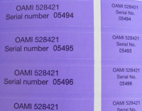 Sequential Number Labels