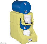 2 Drum Dispensing System Poly Rack and Stack Complete