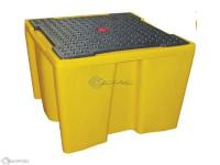 Single IBC Containment Bund With Grid (YELLOW)