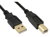 MicroConnect USB2.0 A-B 5m M-M Goldplated Black USBAB5G - eet01