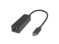 MicroConnect USB3.1 Type C to RJ45 Adapter 10/100/1000Mbps, Black, 5Gbps USB3.1CETHB - eet01