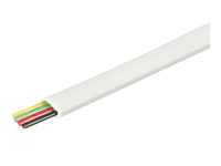 MicroConnect Telephone flat 4wires 100m White, CCA MPK100-4CCAW - eet01