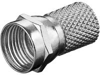 MicroConnect Twist-On F-Plug 7.0mm Zinc-nickel COAXADAPTER3 - eet01