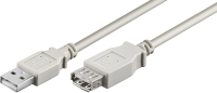 MicroConnect USB2.0 Extension A-A 0,3m M-F Grey, Hi-Speed cable USBAAF03 - eet01