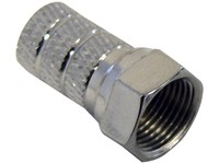Maximum F-Connector for 5.0 mm Cable Twist-on type N35/RG59,100 PCS 1933 - eet01