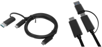 MicroConnect USB3.1 Type C - Type C 1m M-M With one USB 3.0 A adapter USB3.1CCA1 - eet01