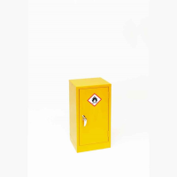 Small Yellow COSHH Cupboard 710H x 355W x 305D by Elite