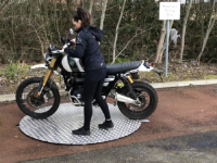 Powered Motorcycle Turntables For Commercial Use