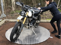 Powered Motorcycle Turntables For Exibitions