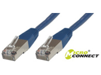 B-FTP5005B MicroConnect FTP CAT5E 0.5M BLUE PVC 4x2xAWG 26 CCA - eet01