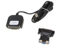 USBP MicroConnect USB to Parallel DB25 female With DB9 female-DB25 male - eet01