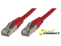 B-FTP5005R MicroConnect FTP CAT5E 0.5M RED PVC 4x2xAWG 26 CCA - eet01