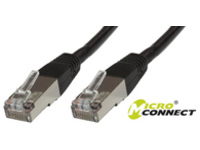 B-FTP5005S MicroConnect FTP CAT5E 0.5M BLACK PVC 4x2xAWG 26 CCA - eet01