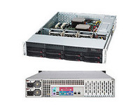"Supermicro 2U, 720W PS (redundant, Gold Level), 8x 3.5"" Hot-swap CSE-825TQ-R720LPB - eet01"