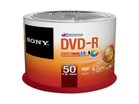 Sony DVD-R x 50 - 4.7 GB Spindle  50DMR47PP - eet01