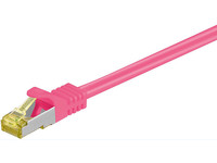 MicroConnect CAT 7 S/FTP  RJ45 PINK 0.25m Cat 7 PIMF tested up to 600MHz SFTP70025PI - eet01
