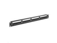 MicroConnect Patch Panel CAT 6 24 port Unshielded.LSA Terminals,Black PP-013 - eet01