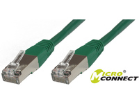 MicroConnect S/FTP CAT6 0.25m Green LSZH PiMF (Pairs in metal foil) SSTP60025G - eet01