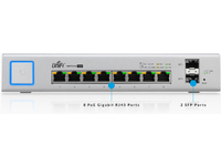 Ubiquiti Networks UniFi Switch 8, 150W PoE+ 8 Gbit Ports, 2 SFP US-8-150W - eet01