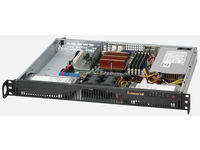 "Supermicro 1U, 350W PS (Gold Level), 2x 3.5"" Internal HDD bays CSE-512F-350B - eet01"
