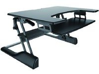 NewStar Sit-stand Workstation Hight adjustable 13 - 50 cm NS-WS100BLACK - eet01