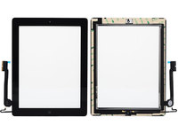 MicroSpareparts Mobile Touch panel assembly Black  TABX-IP3-WF-INT-1B - eet01