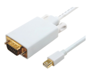 MicroConnect Mini Displayport-VGA M-M White 1m, Active converter cable MDPVGA3W - eet01