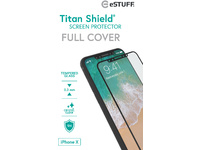 ESTUFF Apple iPhone X Full Black Titan Shield Screen Protector ES501510 - eet01