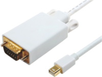 MicroConnect Mini Displayport-VGA M-M White 3m, Active converter cable MDPVGA5W - eet01