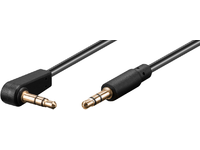 MicroConnect 3.5mm jack Cable 1m M-M 90 3.5mm (3-pin, stereo) 90 AUDLL1A - eet01
