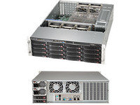"Supermicro 3U, 1000W PS (red. Tit. Level) 16x 3.5"" Hot-swap drive bays, CSE-836BE1C-R1K03B - eet01"