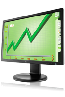 "Lg E2210pm-bn 22"" Widescreen Lcd Monitor  Black - (1680x1050)/ha/sw/pi/ti/vga/dvi-d/vesa/speakers E2210pm-bn - xep01"