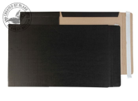 BWC4 + Blake Purely Packaging Black Peel & Seal Book Wrap 350X250X50mm Pack 25 Code Bwc4 + 3P- BWC4 +