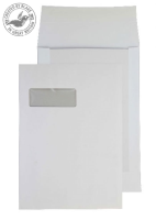 92901W Blake Purely Packaging White Window P&S Board Back Gusset 324X229X25 120G Pk125 Code 92901W 3P- 92901W
