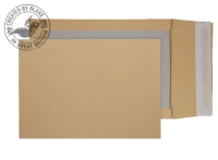 93935M Blake Purely Packaging Manilla Peel & Seal Board Back Gusset 324X229X50mm 120G Pk125 Code 93935M 3P- 93935M