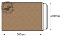 L/8 GOLD Blake Purely Packaging Gold Peel & Seal Padded Bubble Pocket 660X460mm 90G Pk50 Code L/8 Gold 3P- L/8 GOLD