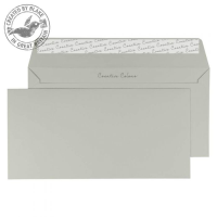 219 Blake Creative Colour French Grey Peel & Seal Wallet 114X229mm 120Gm2 Pack 500 Code 219 3P- 219