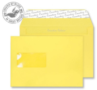 303W Blake Creative Colour Banana Yellow Window Peel & Seal Wallet 162X229mm 120Gm2 Pack 500 Code 303W 3P- 303W