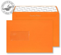 305W Blake Creative Colour Pumpkin Orange Window Peel & Seal Wallet 162X229mm 120G Pk500 Code 305W 3P- 305W