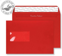 306W Blake Creative Colour Pillar Box Red Window Peel & Seal Wallet 162X229mm 120G Pk500 Code 306W 3P- 306W