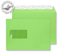 307W Blake Creative Colour Lime Green Window Peel & Seal Wallet 162X229mm 120Gm2 Pack 500 Code 307W 3P- 307W