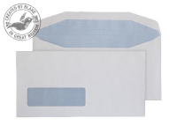 6114LW Blake Purely Everyday White Window Gummed Mailer 121X235mm 90Gm2 Pack 1000 Code 6114Lw 3P- 6114LW