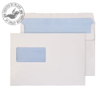 2809 Blake Purely Everyday White Window Self Seal Wallet 162X238mm 90Gm2 Pack 500 Code 2809 3P- 2809