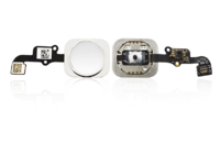 MicroSpareparts Mobile Home button assembly Silver IPhone 6 / iPhone 6+ MSPP6402S - eet01