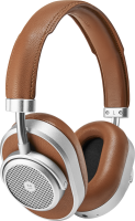 Master & Dynamic MW65 Active-Noise-Cancelling Wireless Over-Ear Brown/Silver MW65S2 - eet01