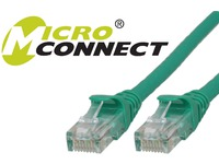 MicroConnect U/UTP CAT6 15M Green Snagless Unshielded Network Cable, UTP615GBOOTED - eet01