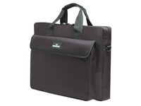 "Manhattan 15.4"" Notebook Briefcase Black London, Polyester 438889 - eet01"