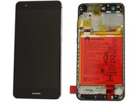 Huawei LCD With Touch Glass, Frame and Battery, Black 02351SVK - eet01