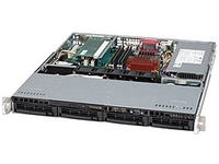 "Supermicro 1U, 350W PS (Gold Level), 4x 3.5"" Hot-swap HDD bays CSE-813MTQ-350CB - eet01"