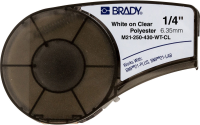 Brady Polyester tape 6,35mmx6,4m White on Clear M21-250-430-WT-CL - eet01